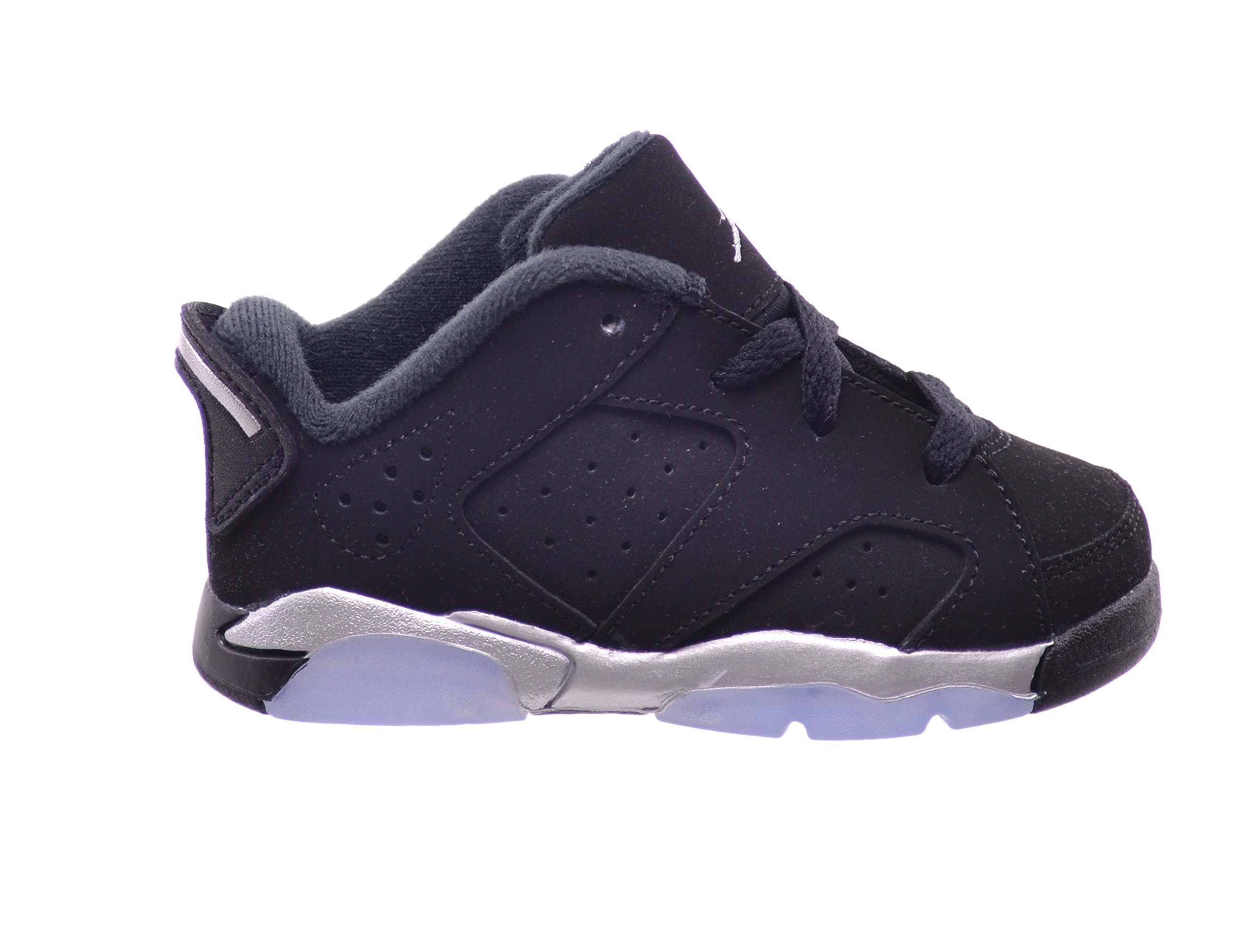 Jordan 6 Retro Low BT Toddlers Baby Infants Shoes Black/Metallic Silver-White 768883-003 (5 M US)