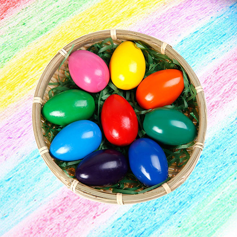 Crayones de huevo de 9 colores para ni/ños ANSUG Safty Non Toxic Palm Grip Crayons Arte Doodle Dibujos colorear crayones para Ni/ños Pascua