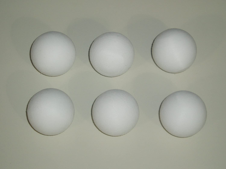Garlando - Conjunto de 6 balones de futbolín en Color Blanco ...