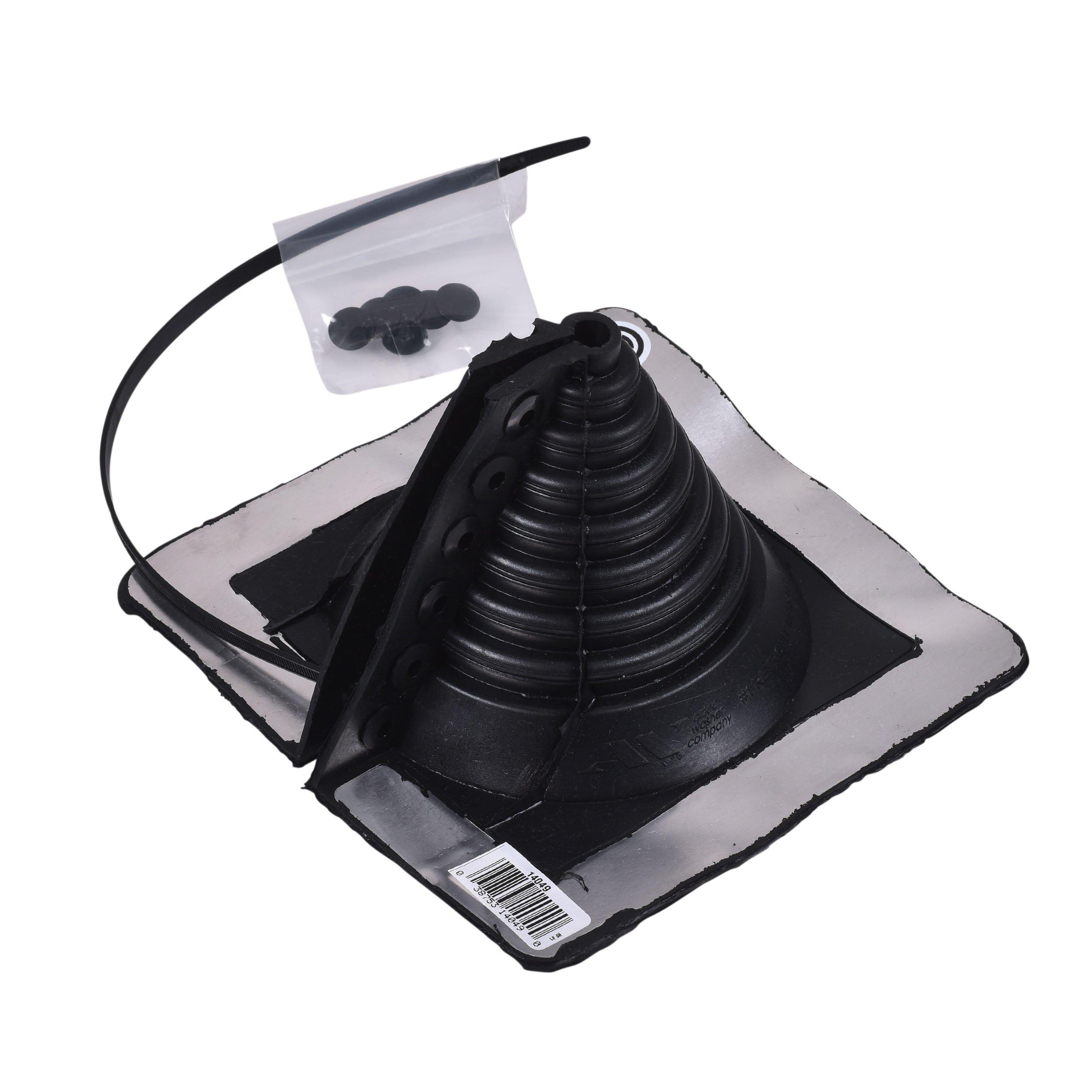Oatey 14049 Retro Master Flash 0.25'' - 5.75'' pipe diameter Roof Flashing 8'' x 8'' Base by Oatey