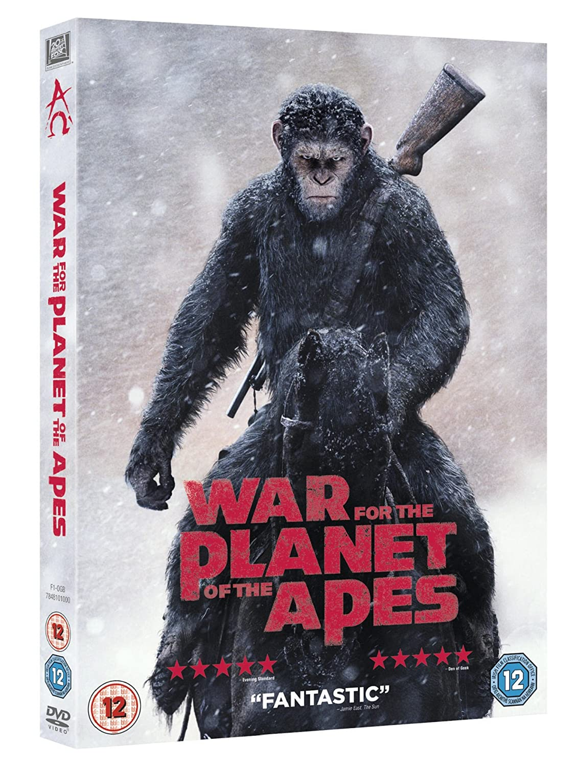 Amazon Com War For The Planet Of The Apes Dvd 2017 Movies Tv