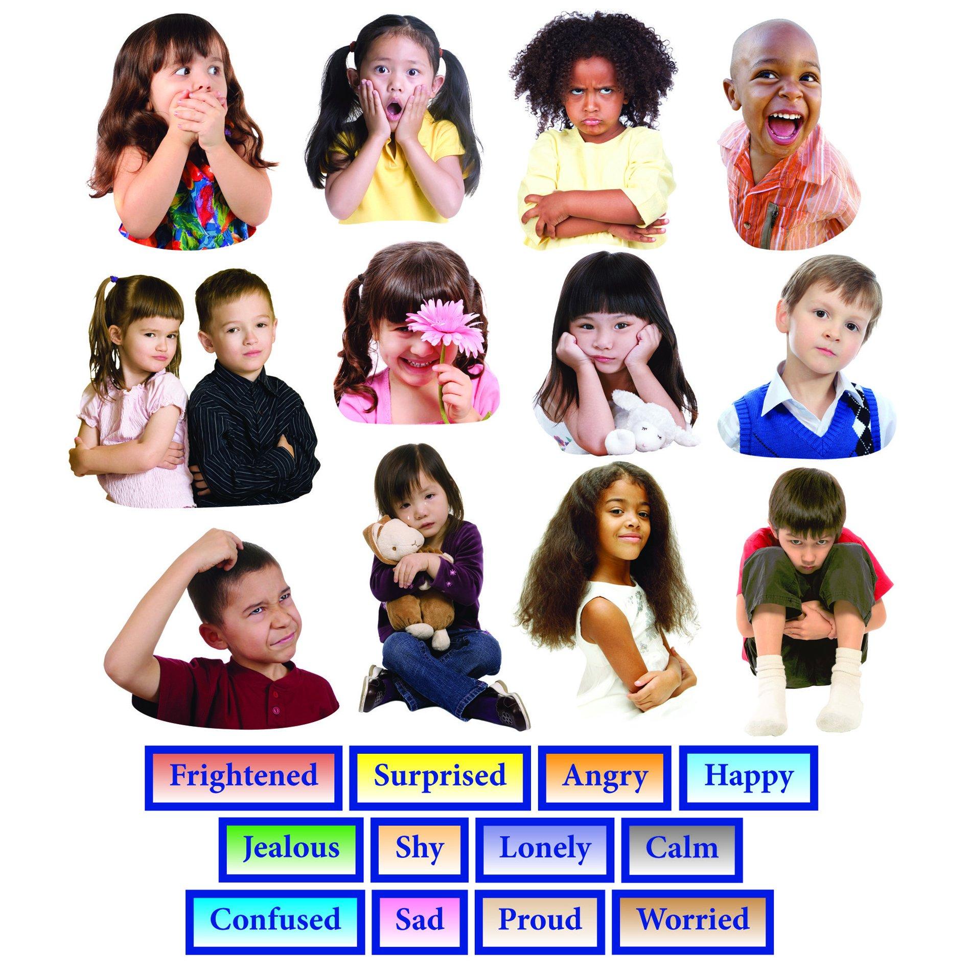 Little Folk Visuals Emotions Precut Flannel/Felt Board Figures, 24 Pieces Set