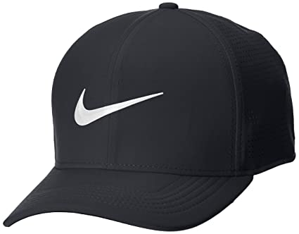 Nike AeroBill Classic 99 Performance Golf Cap 2018 Black Anthracite White  X-Small feed0a22d49