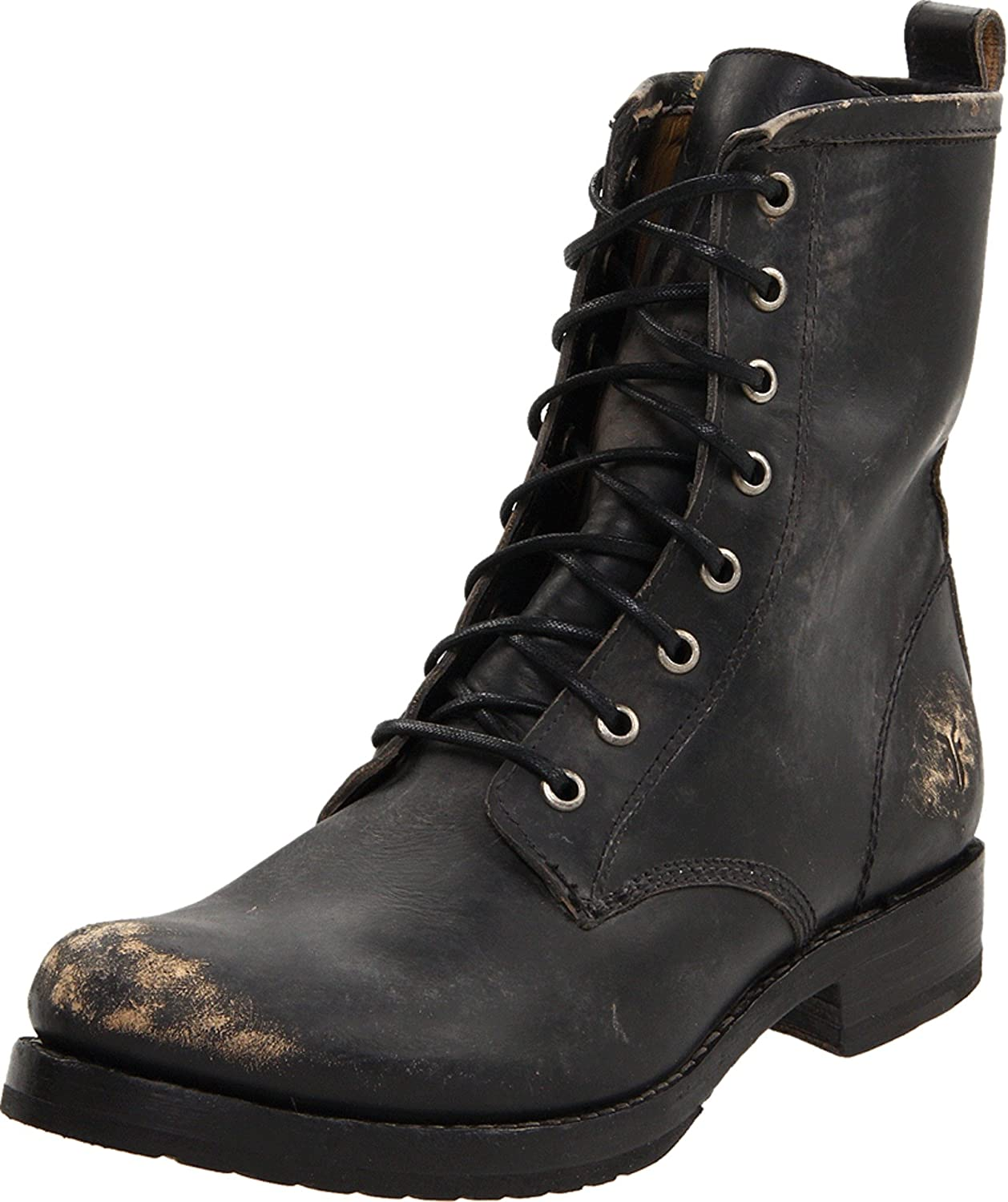 FRYE Women's Veronica Combat Boot B004OUVG1O 7 B(M) US|Black Stone Washed-76272