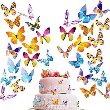 Amazon.com: 200 piezas mariposa para decoración de tartas de ...