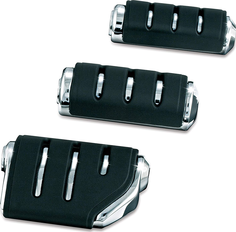 Gloss Black 1 Pair Kuryakyn 7562 Motorcycle Footpegs Premium Trident Dually ISO Pegs with Male Mount Adapters
