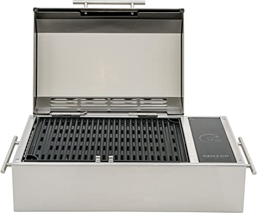 Kenyon B70090 Frontier All Seasons Portable Stainless Steel Electric Grill, 120V