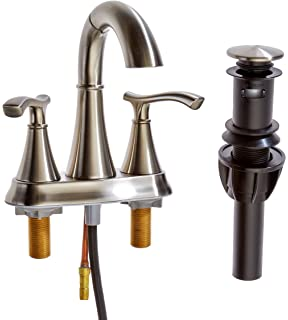 Gold Finish Pull Out Sprayer Bathroom Sink Faucet Basin Mixer Tap ...