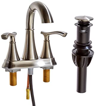 Pfister Ideal Two Handle 4 quot  Centerset Bathroom Faucet with Pull Out  Spray  Brushed NickelPfister Ideal Two Handle 4  Centerset Bathroom Faucet with Pull  . Bath Faucet With Pull Out Spray. Home Design Ideas