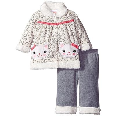 Little Lass Baby Girls' 2 Piece Polar Fleece Pant and Jacket Set Kitty