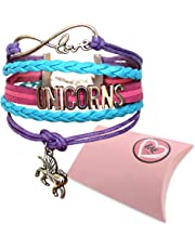 Infinity Unicorns Bracelet Girls, Unicorn Jewellery, Infinity Bracelet Unicorn Charm, Gift Boxed