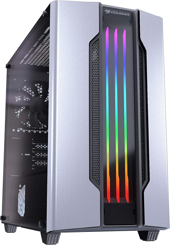 Cougar Gemini M Mini Tower - Caja para Juegos con Efectos de iluminación dinámica y RGB Plata: Amazon.es: Informática