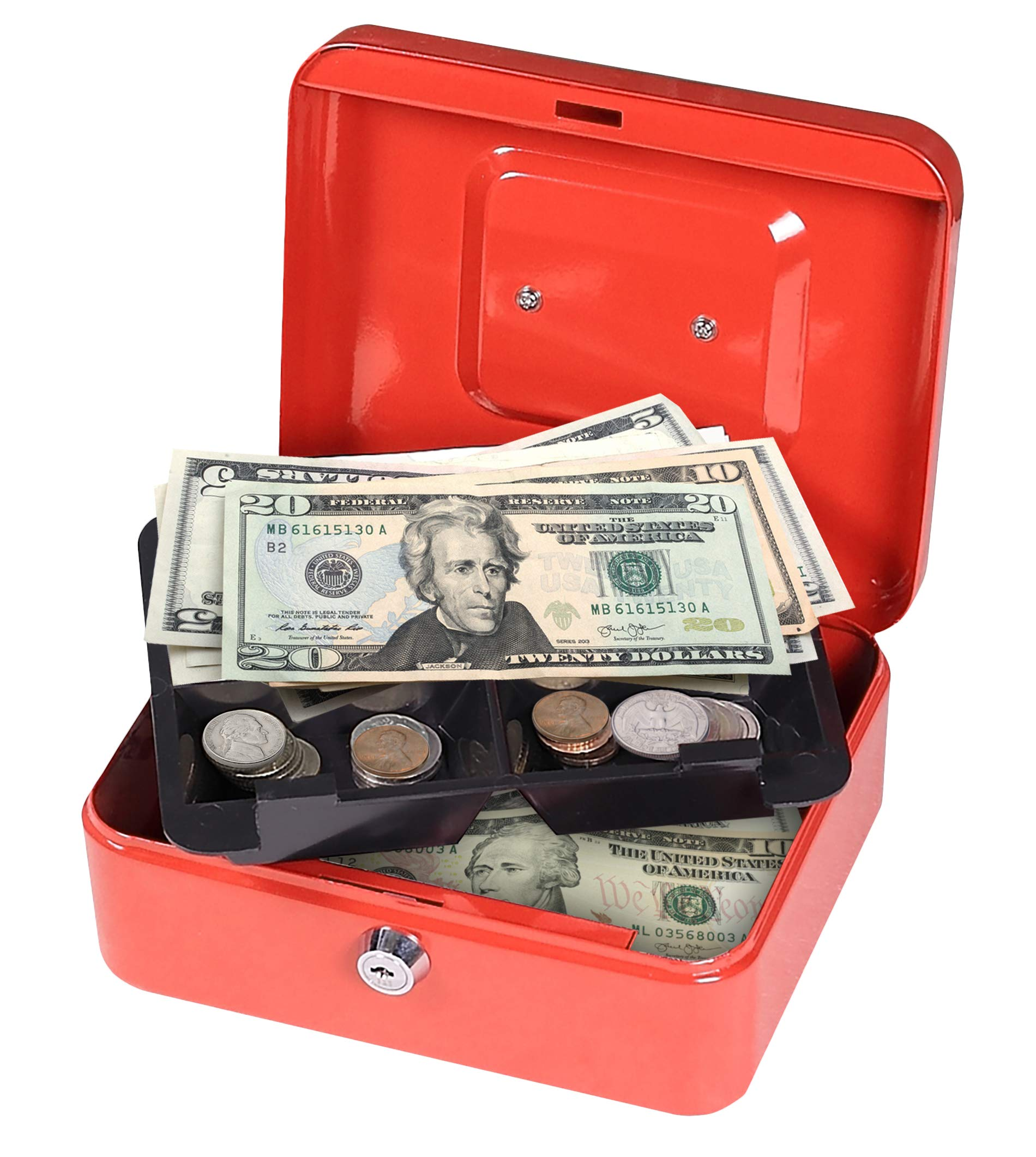 First Alert 1036621 Cash Box .1 Cubic Ft, Red