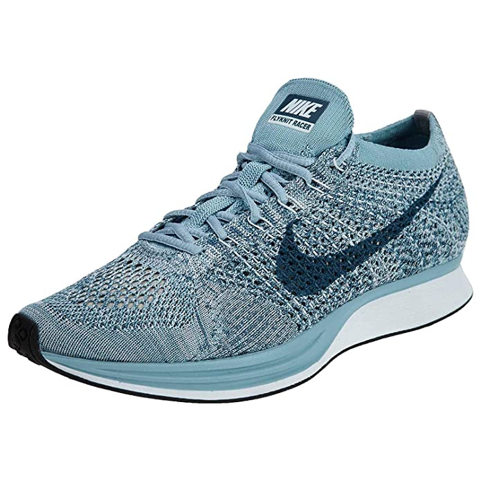 best loved 2dd3b f177f Amazon.com   Nike Mens Flyknit Racer Fabric Hight Top Lace Up Running  Sneaker, Blue, Size 7.0   Road Running