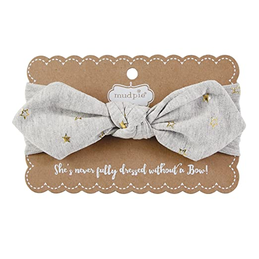 Amazon.com  Mud Pie Baby Girls  Knot Bow Cotton Spandex Headband ... 7a5f90602e0