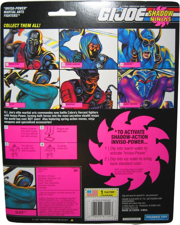 Amazon.com: Vintage 1993 Gi Joe sombra Ninjas Slice de color ...