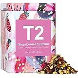 T2 Tea Strawberries and Cream Fruit Tea, Loose Leaf Fruit Tea in T2 Icon Tin 2020, 100 g