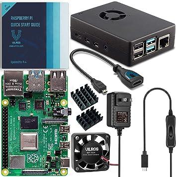 Vilros Raspberry PI 4 Model B Complete Desktop Kit with Keyboard and Mouse Set 2GB, Black Case