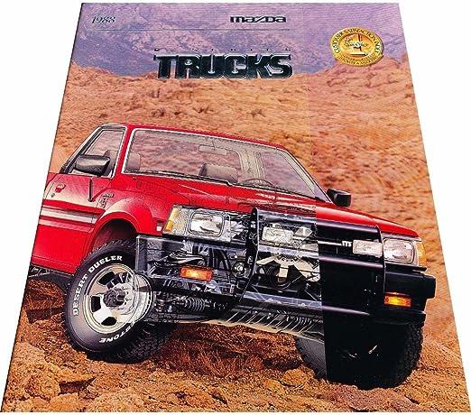 1988 Mazda B2200 Truck 22-page Original Dealer Sales Brochure LX 4x2 4x4
