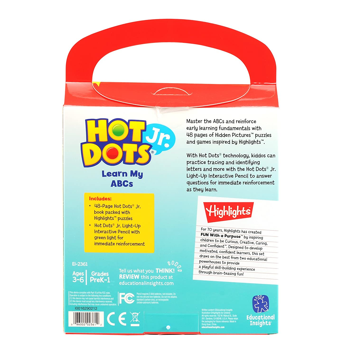 Amazoncom Educational Insights Hot Dots Jr With Highlights On The