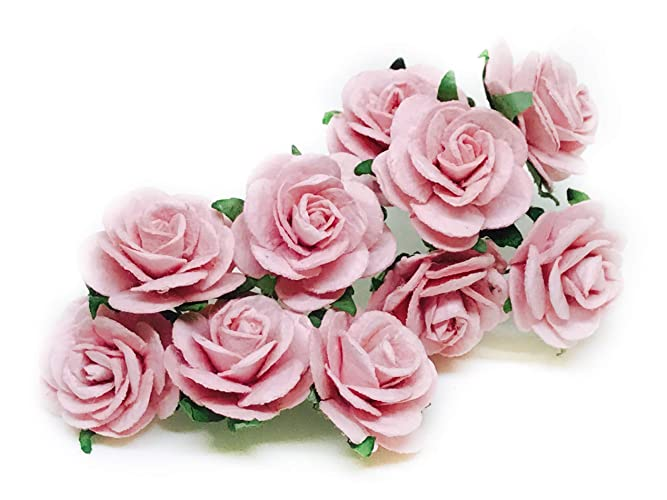 1 Blush Pink Paper Flowers Paper Rose Artificial Flowers Fake Flowers Artificial Roses Paper Craft Flowers Paper Rose Flower Mulberry Paper Flowers