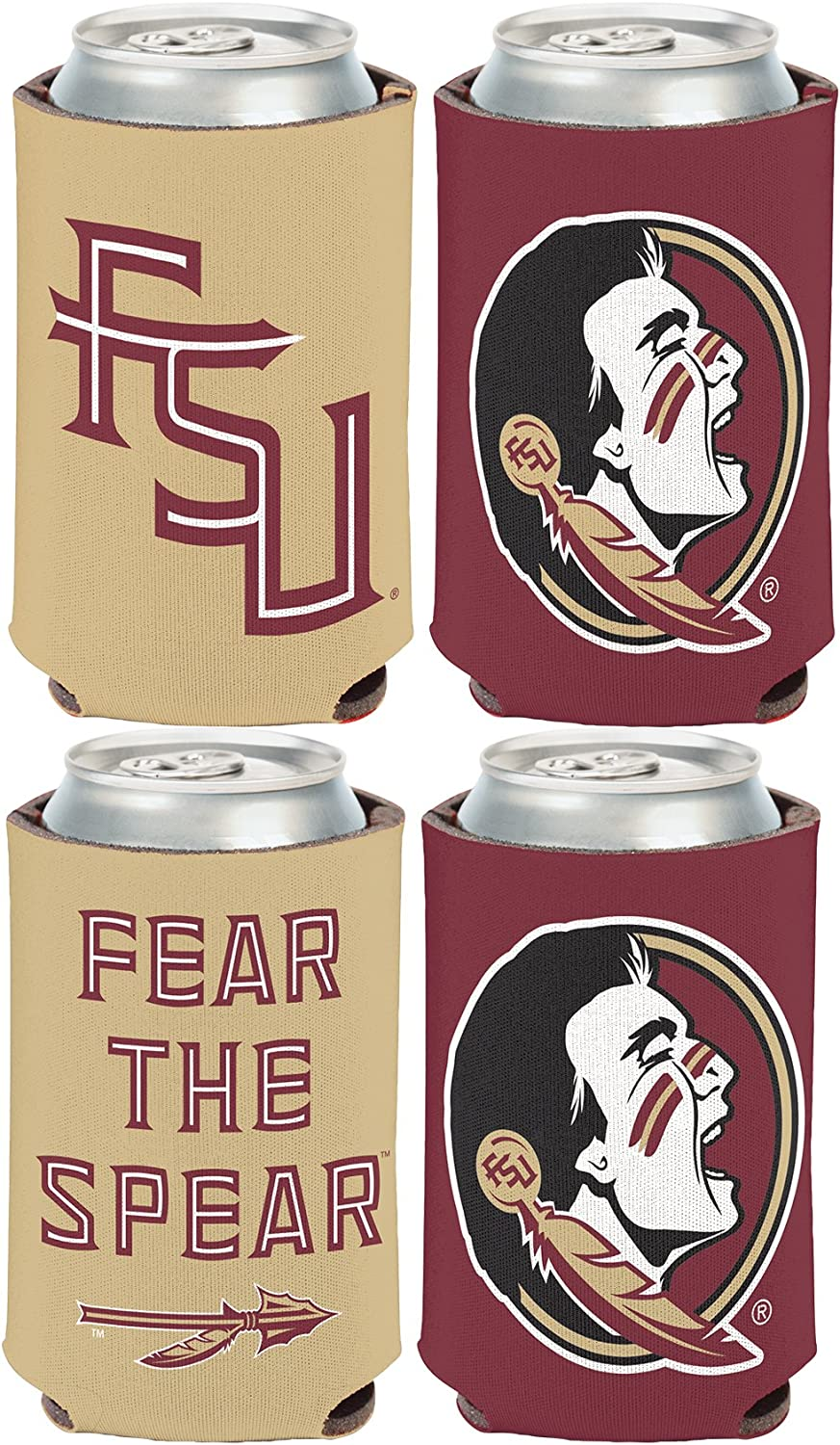 WinCraft NCAA Florida State FSU Seminoles 2 Pack 12 oz. 2-Sided Can Coolers