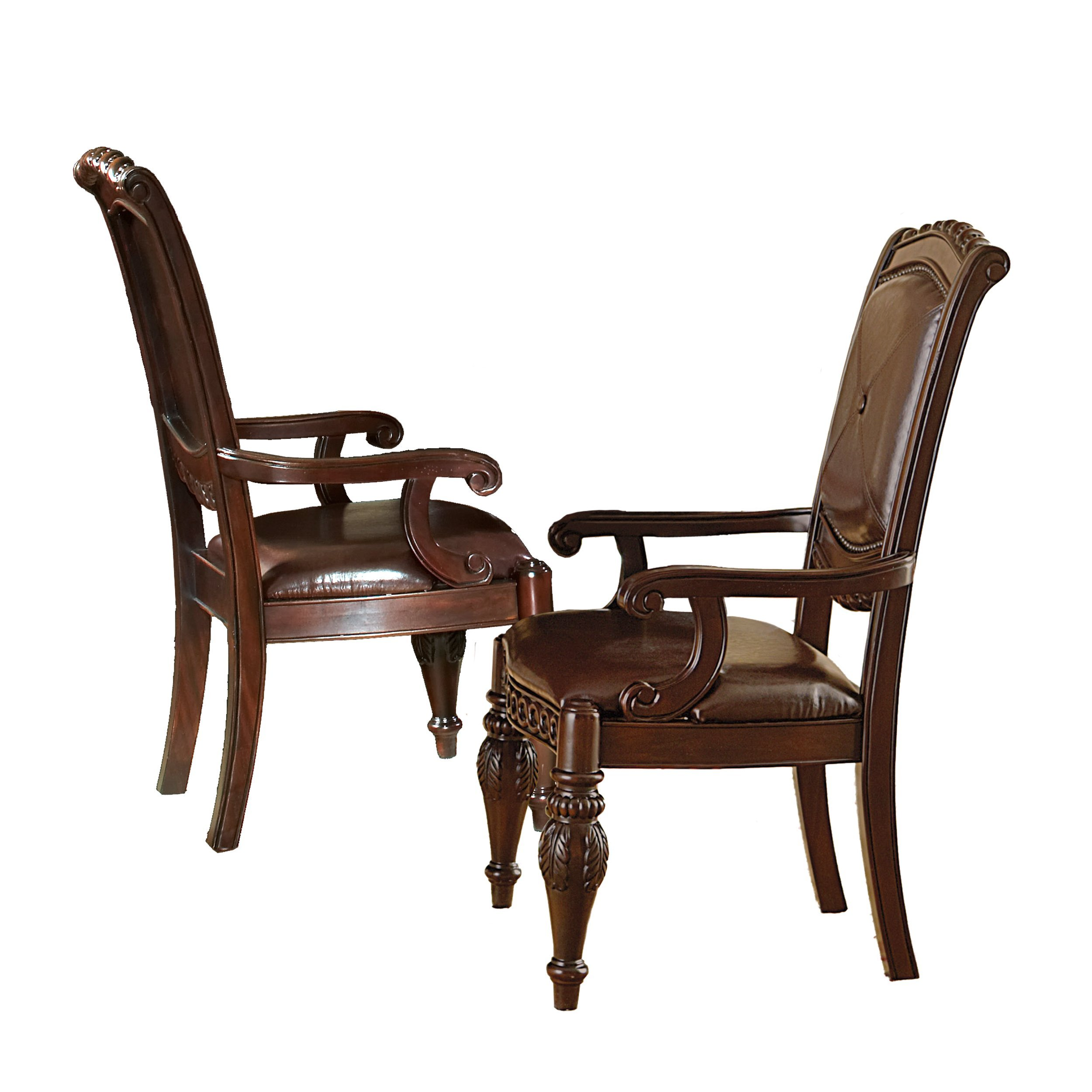 Steve Silver Company Antoinette Arm Chairs, Set of 2