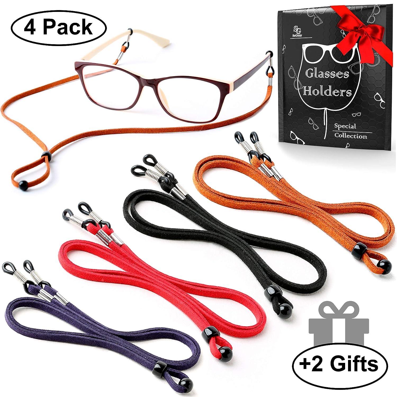 1eeb3b5be5c0 Amazon.com  Eyeglasses Holder Strap Cord - Premium ECO Leather Eyeglasses  String Holder Chain Necklace - Glasses Cord Lanyard - Eyeglass Retainer   Health ...