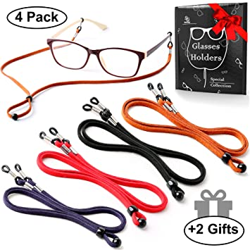 00dbe2607b7 Eyeglasses Holder Strap Cord - Premium ECO Leather Eyeglasses String Holder  Chain Necklace - Glasses Cord