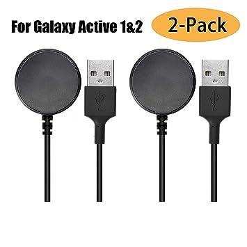 2 Unidades) Compatible con Samsung Galaxy Active 1/2 Cargador ...