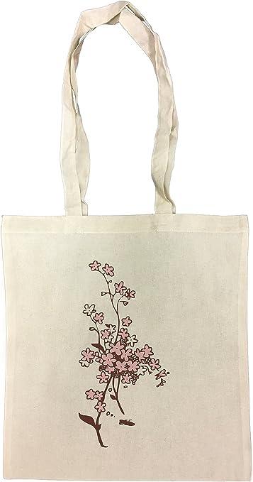 Flores rosadas y blancas Bolsa De Compras Playa De Algodón Reutilizable Shopping Bag Beach: Amazon.es: Hogar