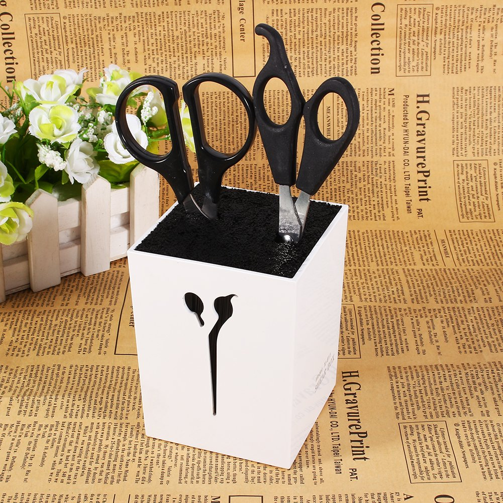 Salon Scissors Rack Hairdressing Scissors Holder Case Hair Clips Storage Organizer Box Pot Hair Styling Tool (White) by ZJchao (Image #4)