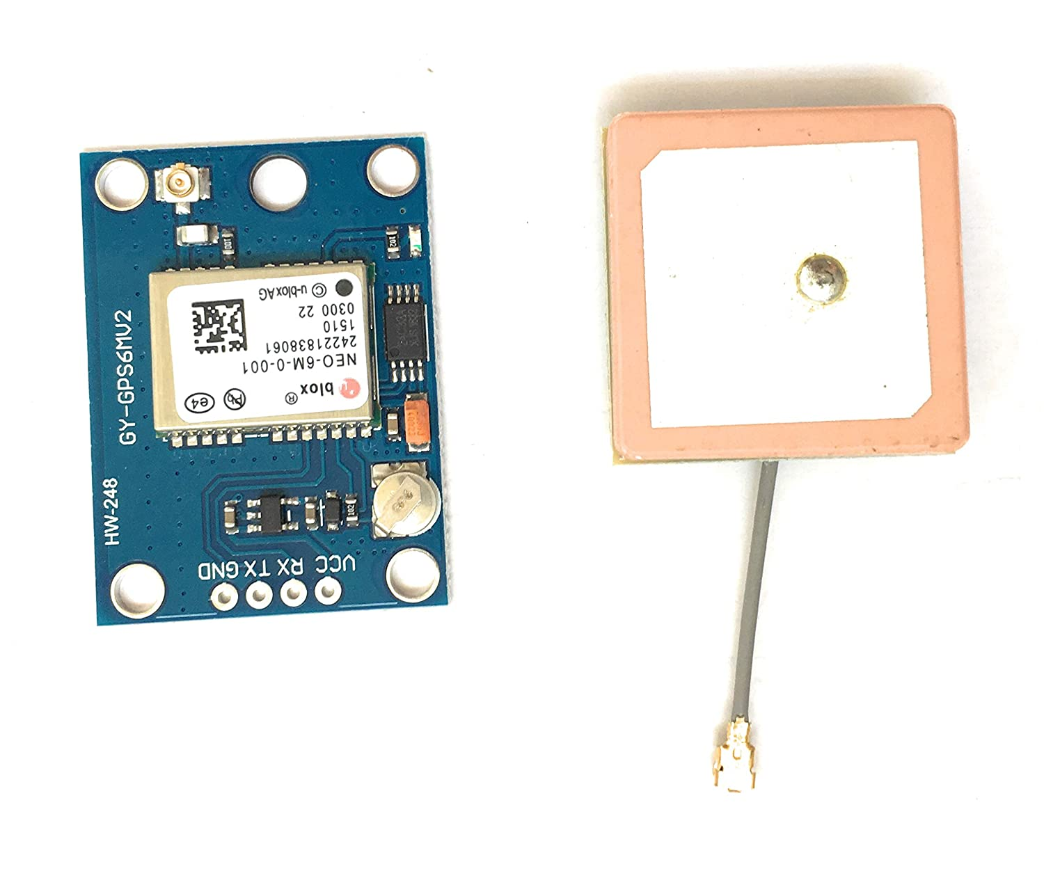 NEO-6M GPS Module with Antenna NEO6MV2 Ublox EEPROM APM2.5 /& Antenna for MWC//AeroQuad for Flight Control Aircraft Arduino
