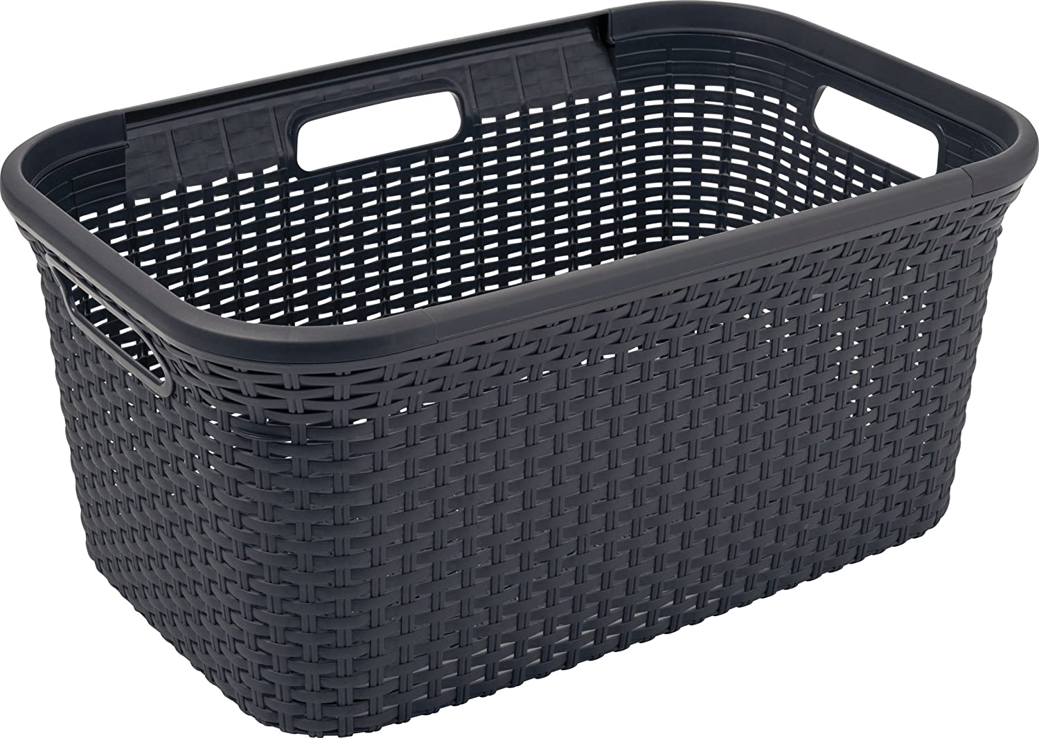 Amazon Com Curver Rattan Style Laundry Basket Available In