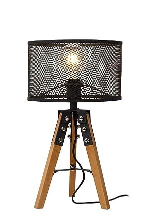 Lucide Aldgate - Lámpara de mesa - Diámetro 29 cm - Negro ...