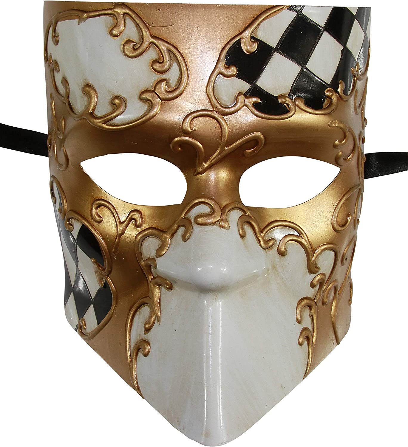 Bauta mask wearable art - Traditional handmade mask : /'Classic golden Bauta/' finished with gold leaf classic
