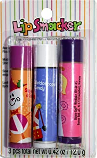 product image for Lip Smackers (1) Pack Lip Balm Sticks Moisturizing Shine Holiday/Christmas Flavors - 3pc Set with: Sugar & Spice, Kaleidoscope Candy, Sugar Plum Wish - Striped Card