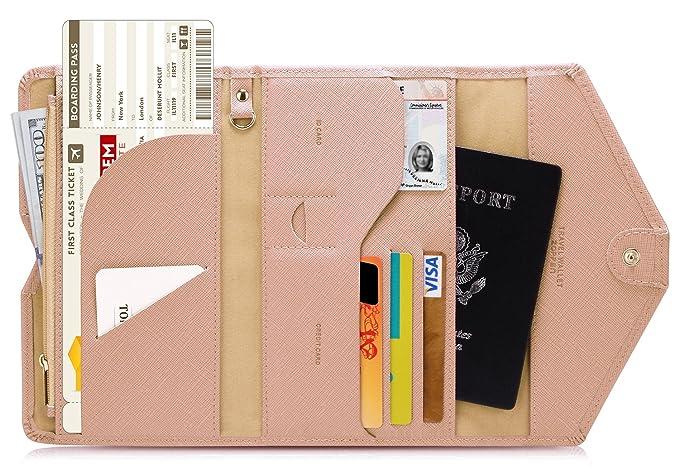 Zoppen multiusos RFID bloqueo de viaje pasaporte cartera (ver. 4) Tri-fold documento organizador Holder: Amazon.es: Ropa y accesorios