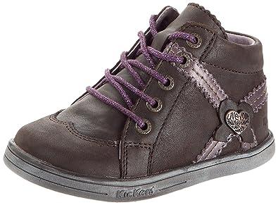 5c271542d2ce86 Kickers Tatiana, Chaussures à lacets bébé fille - Marron/lilas/métal, 18