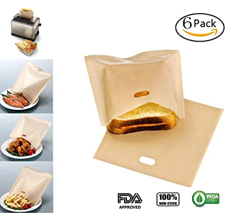 Pack de 6 bolsas de tostadora sin Gluten para queso a la ...