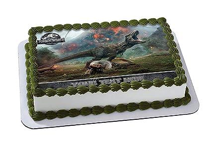 Amazon Com Jurassic World Fallen Kingdom Edible Image Cake Topper