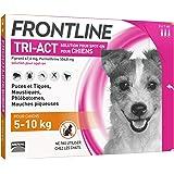 FRONTLINE TRI-ACT Chien - Anti-puces et anti-tiques pour chien - 5-10kg - 3 pipettes