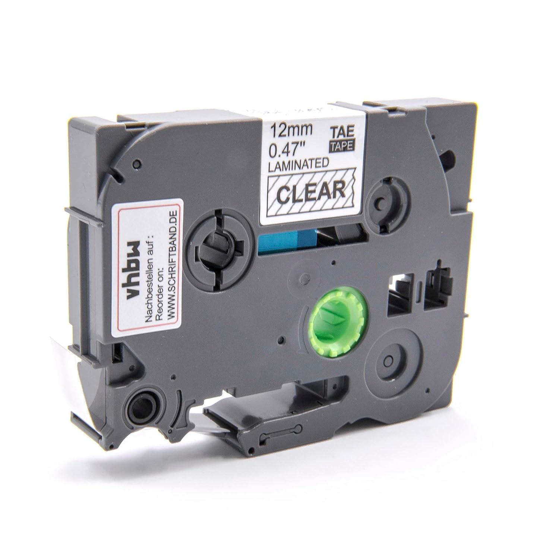 Cassette Ruban Cartouche 12mm vhbw Transparent pour Brother P-Touch 1000, 1000BTS, 1005BTS, 1005F, 1005FB, 1010, 1010NB comme TZ-131, TZE-131. VHBW4251004641898