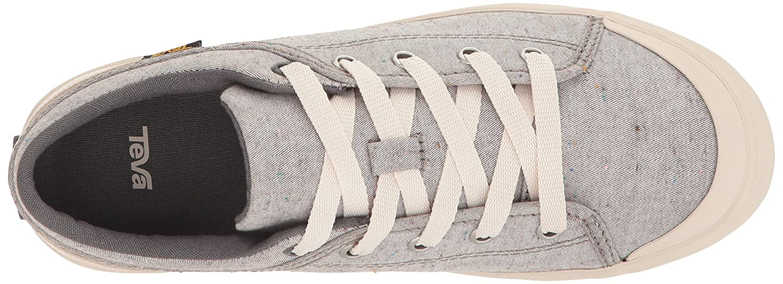 Teva Womens Women's W Freewheel Slubby Canvas Sneaker B072MR8BVG 7 B(M) US|Dark Grey/Multi