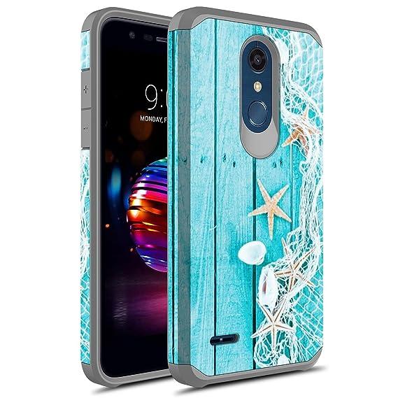 innovative design 9ce6e 9ec6b LG K30 Case, LG Premier Pro LTE Case, LG Harmony 2 Case, LG Phoenix Plus  Case, Rosebono Slim Hybrid Dual Layer Shockproof Graphic Cover Armor Case  for ...