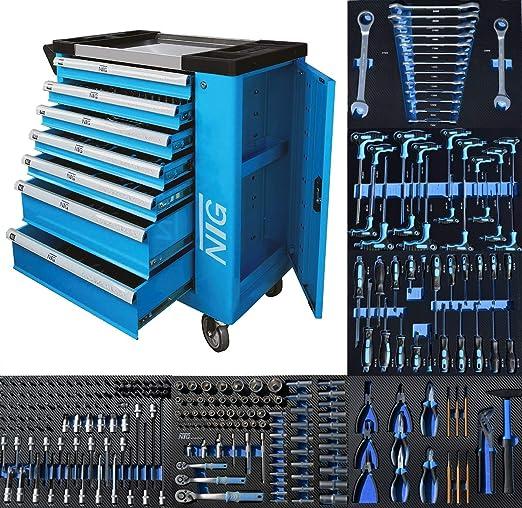 Carro de herramientas para taller, caja de herramientas, 247 ...