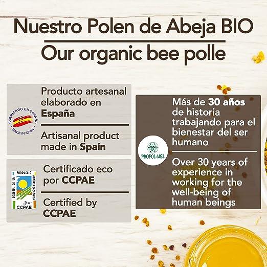 1 kg - Polen de España BIO. 100% natural. Polen de abeja ecologico libre de residuos. Polen fuente de proteinas, aminoácidos, lípidos, vitaminas y minerales.: Amazon.es: Salud y cuidado personal