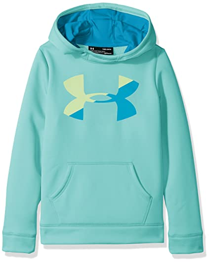 Under Armour Niñas de Forro Polar Big Logo – Sudadera con Capucha, Niña, Color