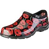 Sloggers 5116POR11 2016 Floral Collection Women's Rain & Garden Shoe, Size 11, Poppy Red