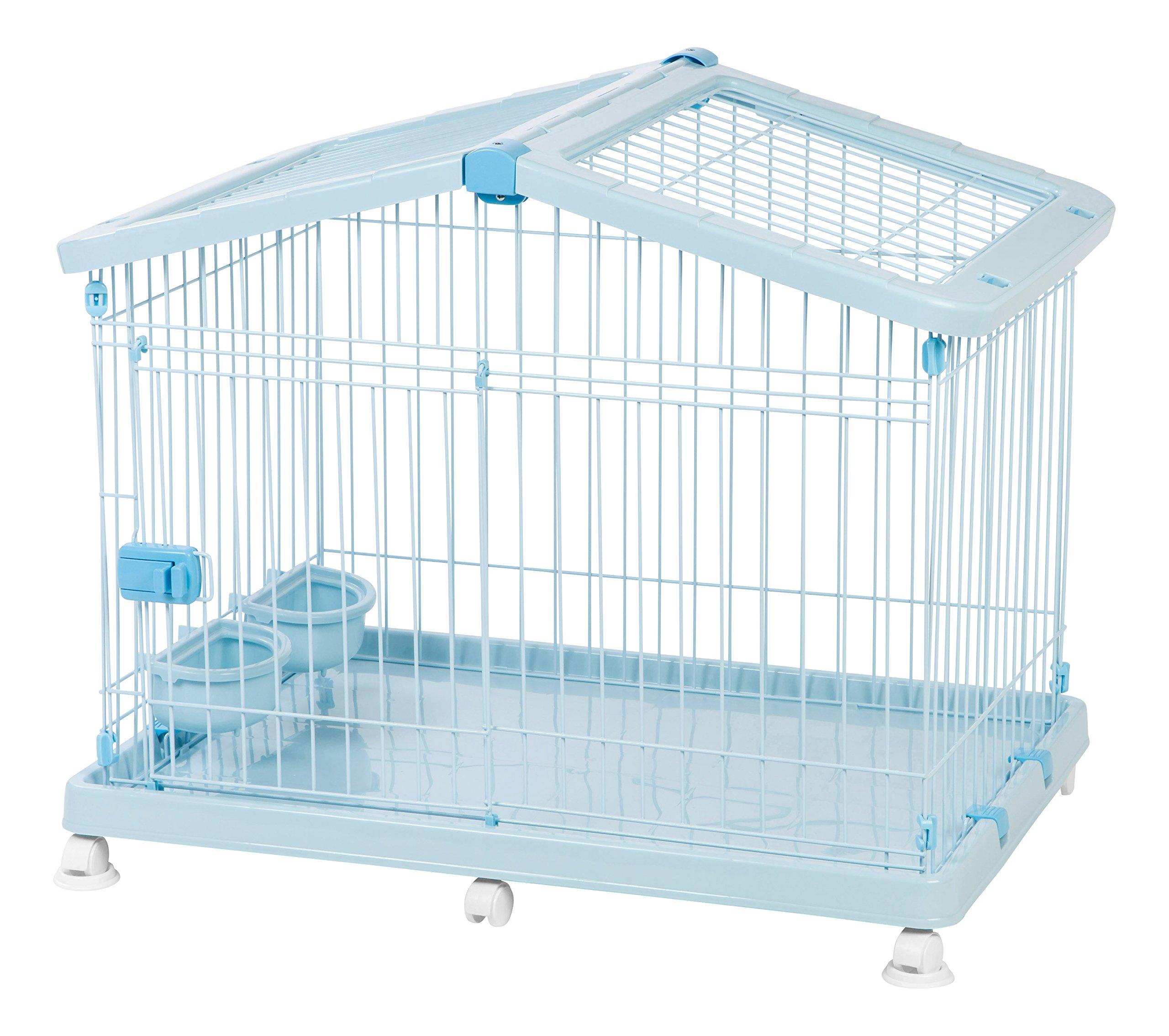IRIS Small Wire Animal House, Blue